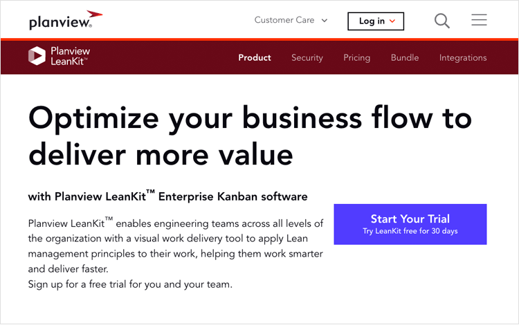 Agile tools - Planview Leankit
