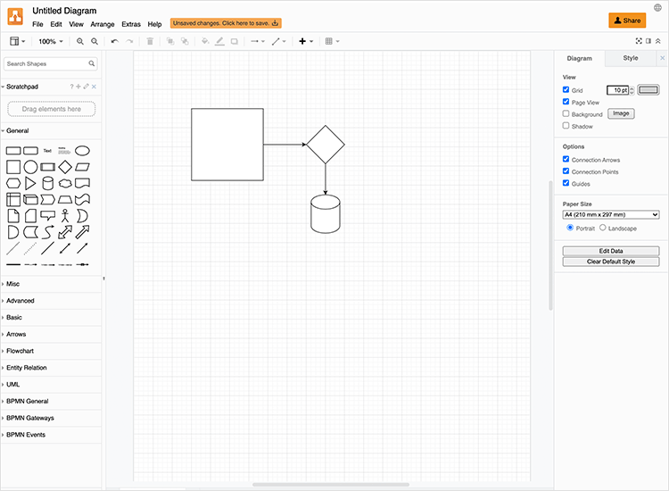 draw.io as great online diagram tool
