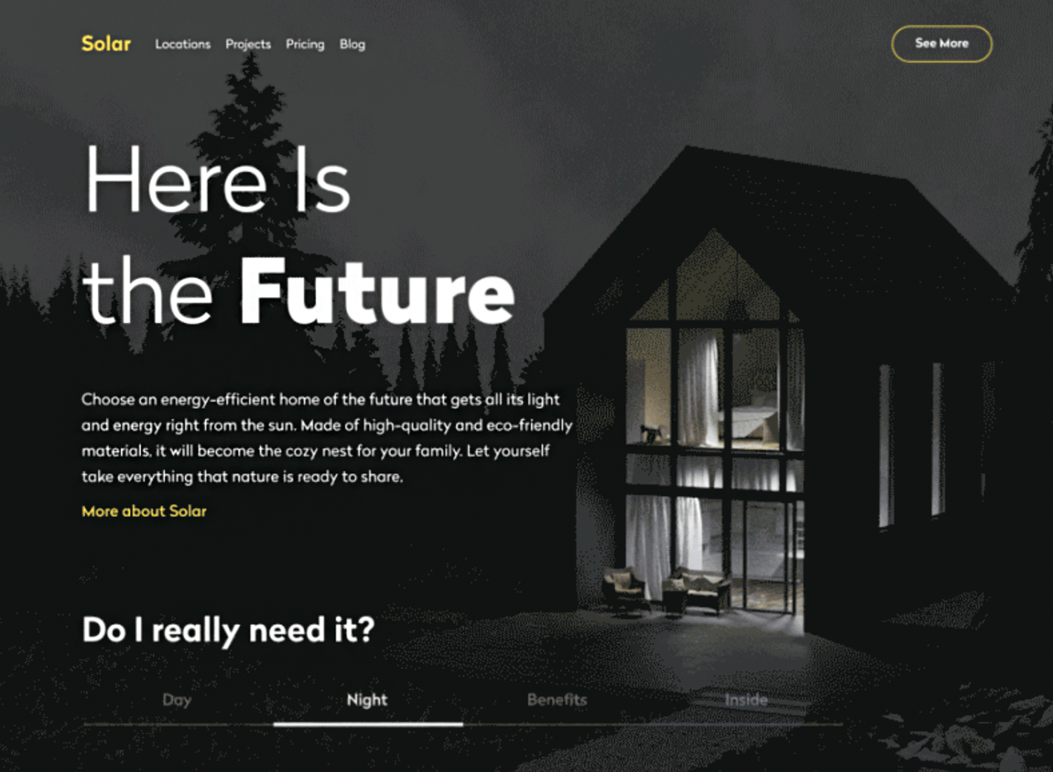 hero image website example with parallax scrolling