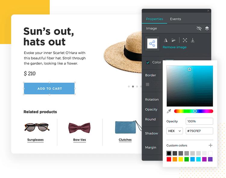 Justinmind Version 9 - advanced color palette