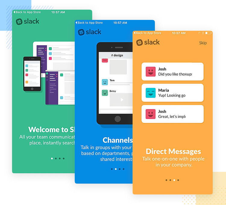onboarding example from slack