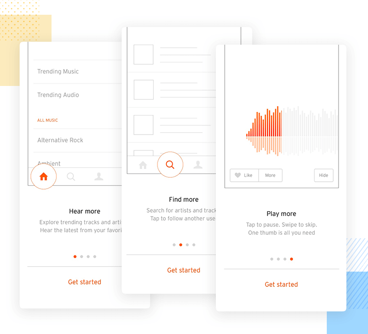 soundcloud as example of quick onboarding sequence