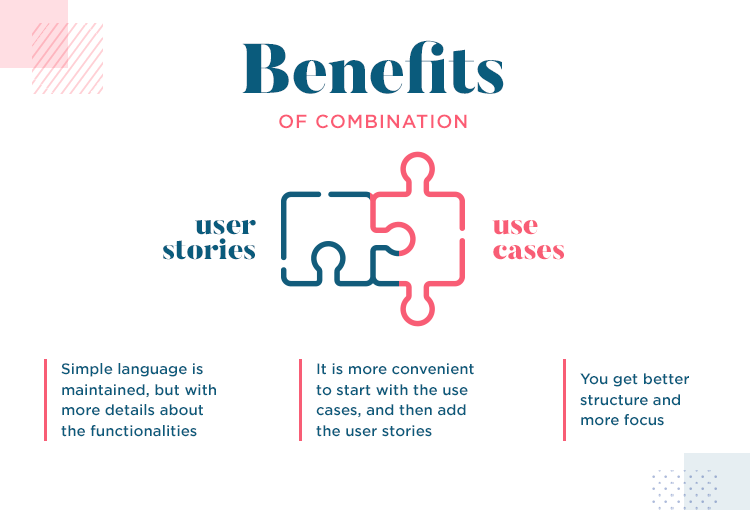 User stories vs use cases - both can be combined like a jigsaw puzzle
