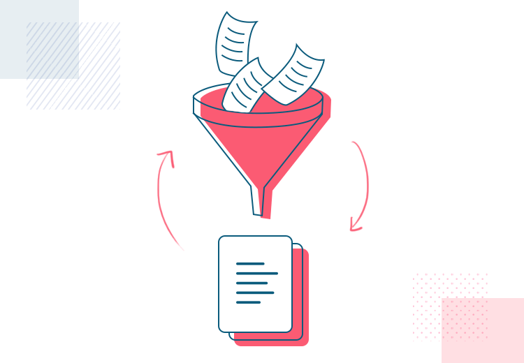 User stories - funneling data into one document