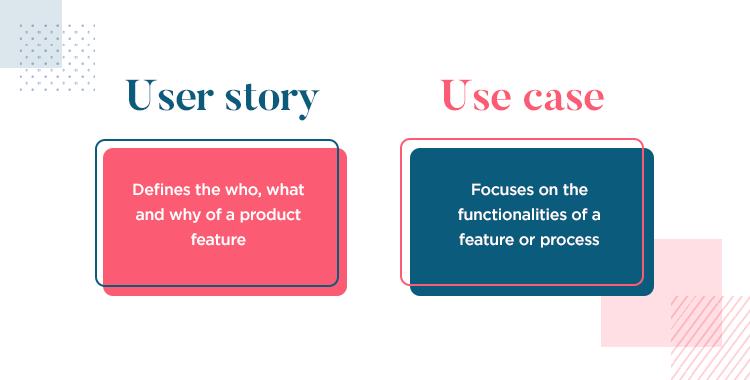 User stories vs use cases - definitions