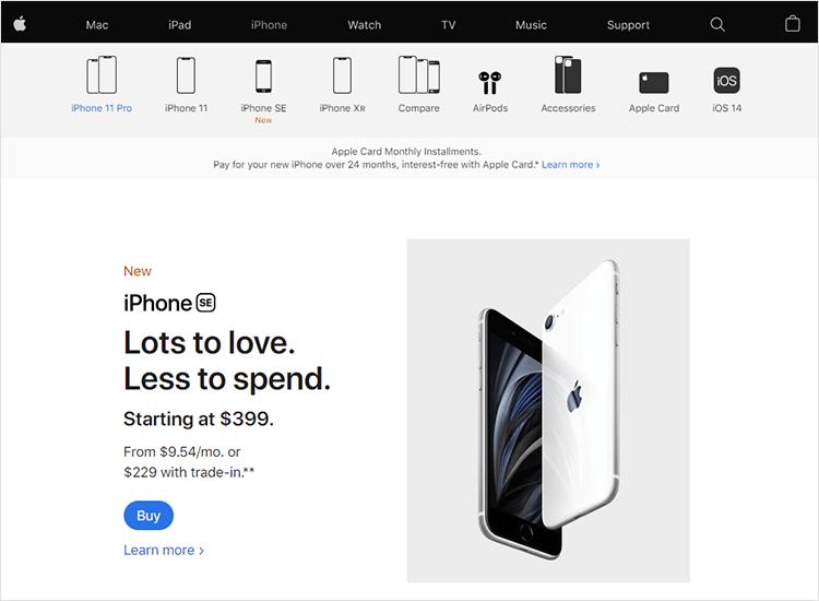 White space design - Apple
