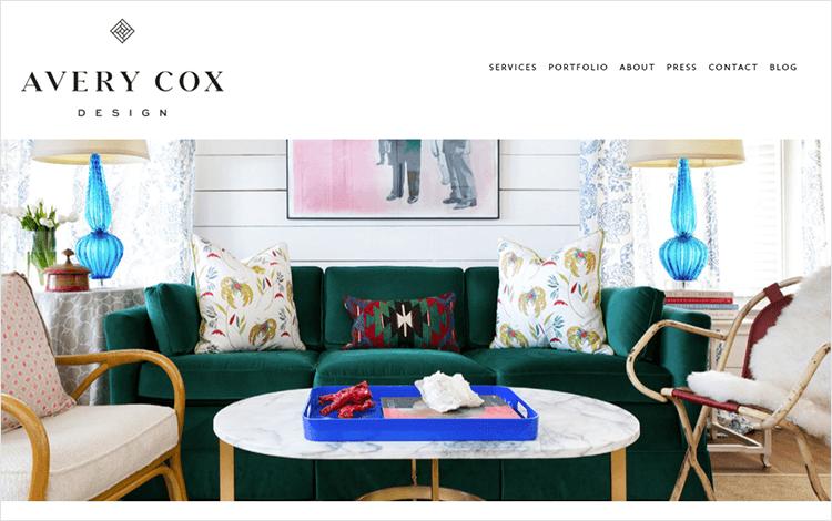 White space design - Avery Cox Design
