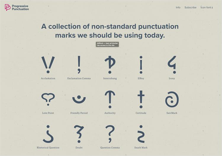White space design - Progressive Punctuation