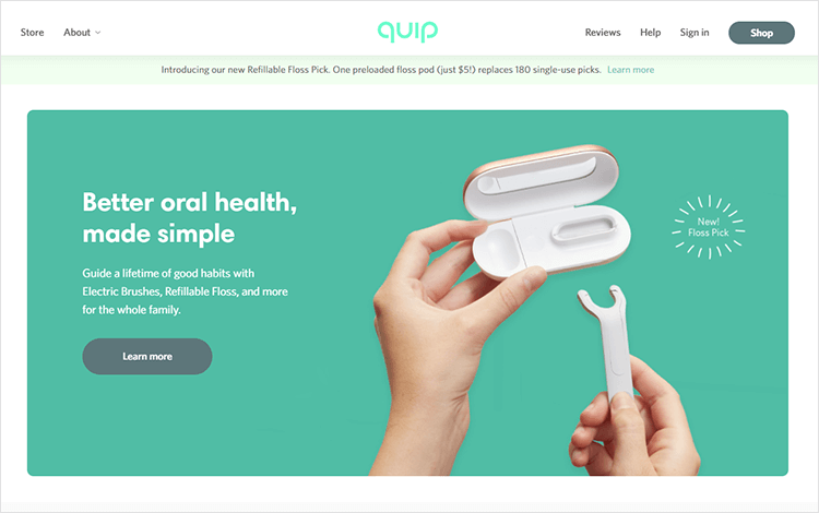 White space design - Quip