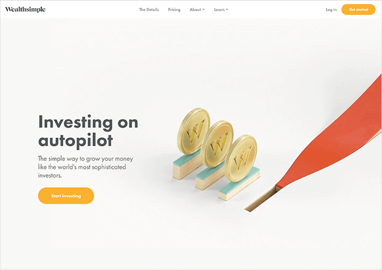 White space design - Wealthsimple