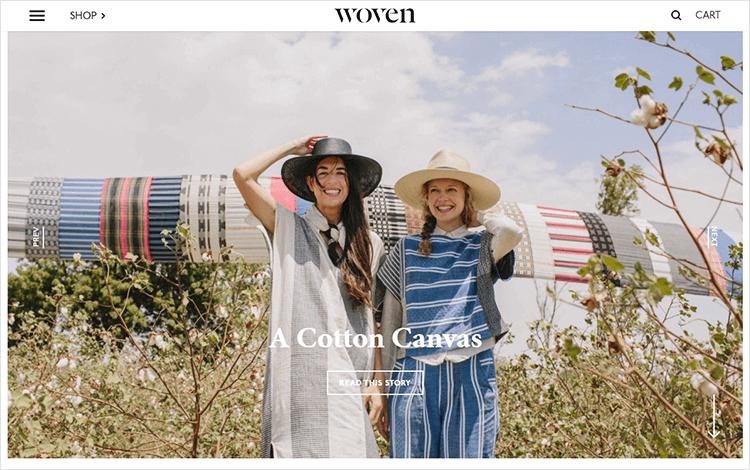 White space design - Woven Magazine