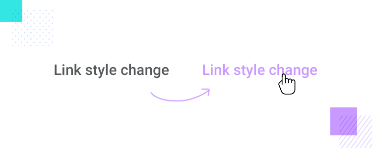 Microinteractions - creating a link style change in Justinmind