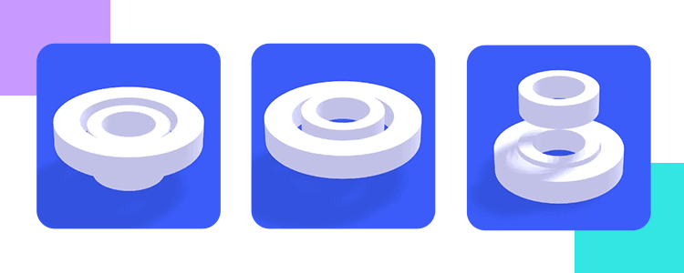 Microinteractions - system feedback using 3D spinner