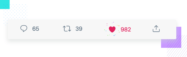 Microinteractions - hearting a tweet with Twitter