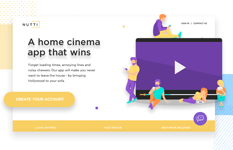how to design and prototype a landing page for requirements