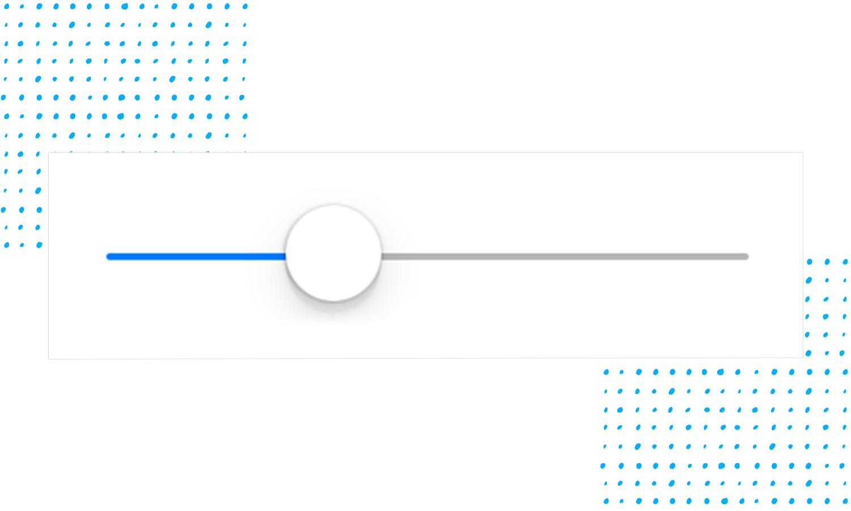UI slider design - knob and thumb padding