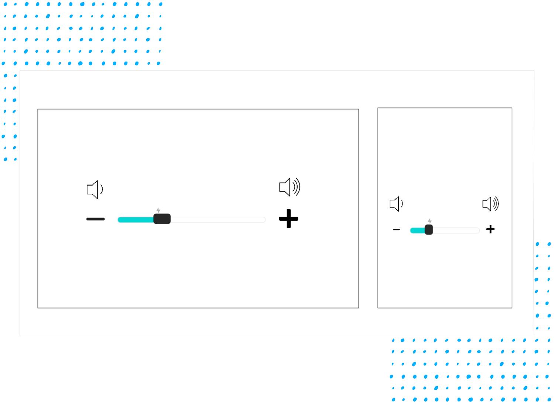 UI slider design - test on desktop and mobile