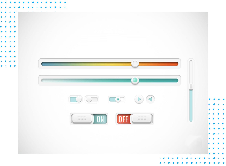 UI slider design - horizontal vs vertical