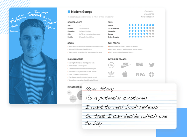 example of user persona as ux research method