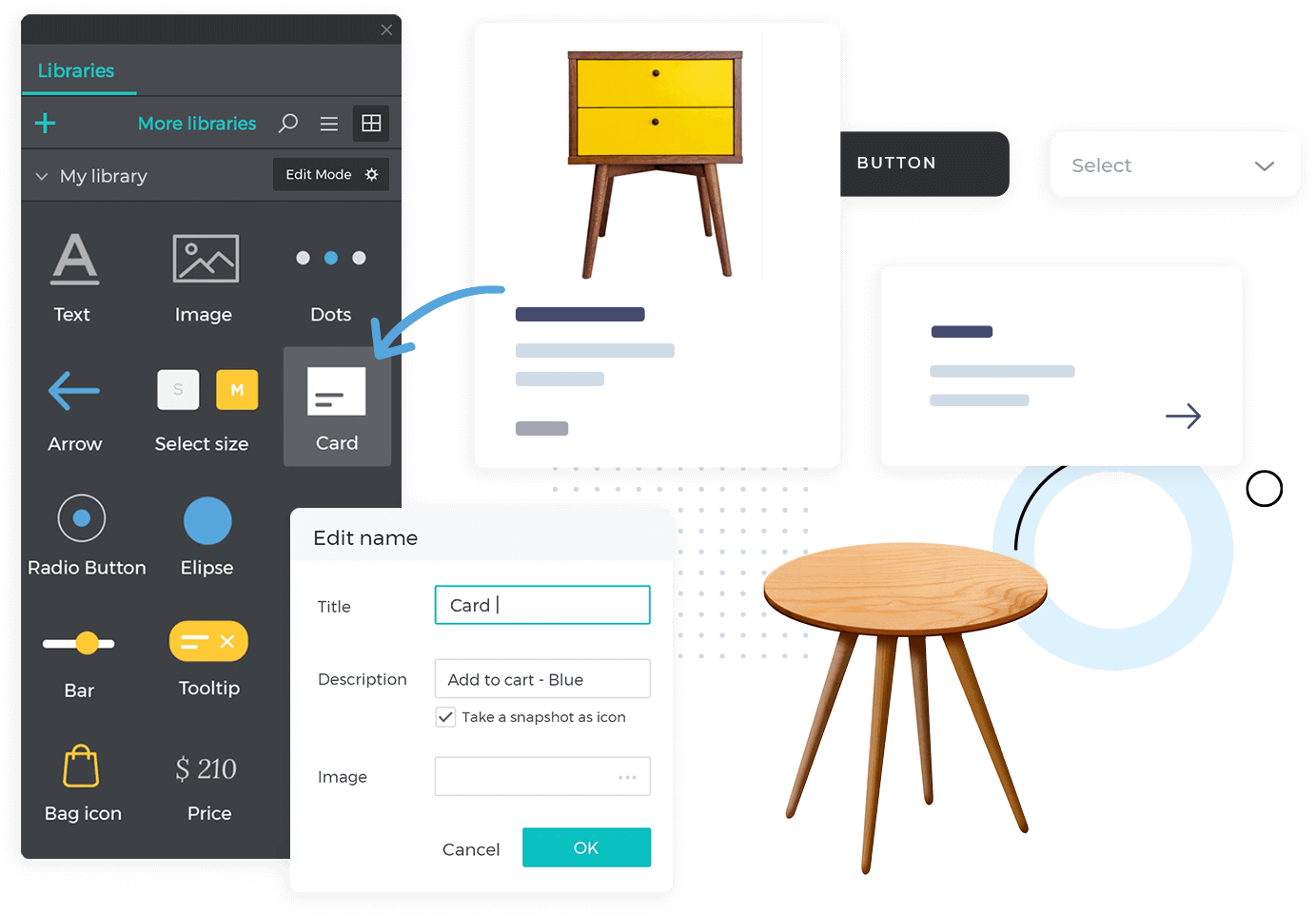 Design your own widget libraries in Justinmind