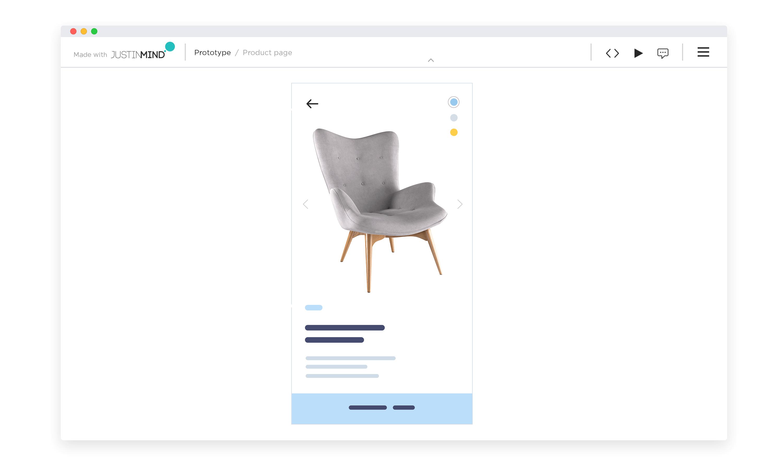 Design mobile app gestures in Justinmind