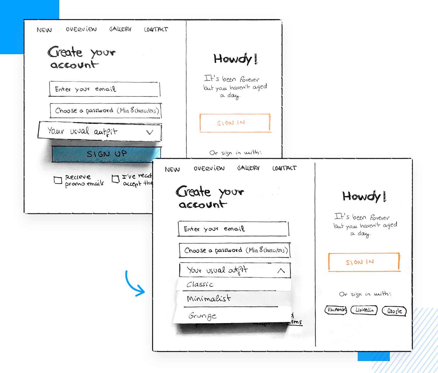 How to make paper prototypes interactive