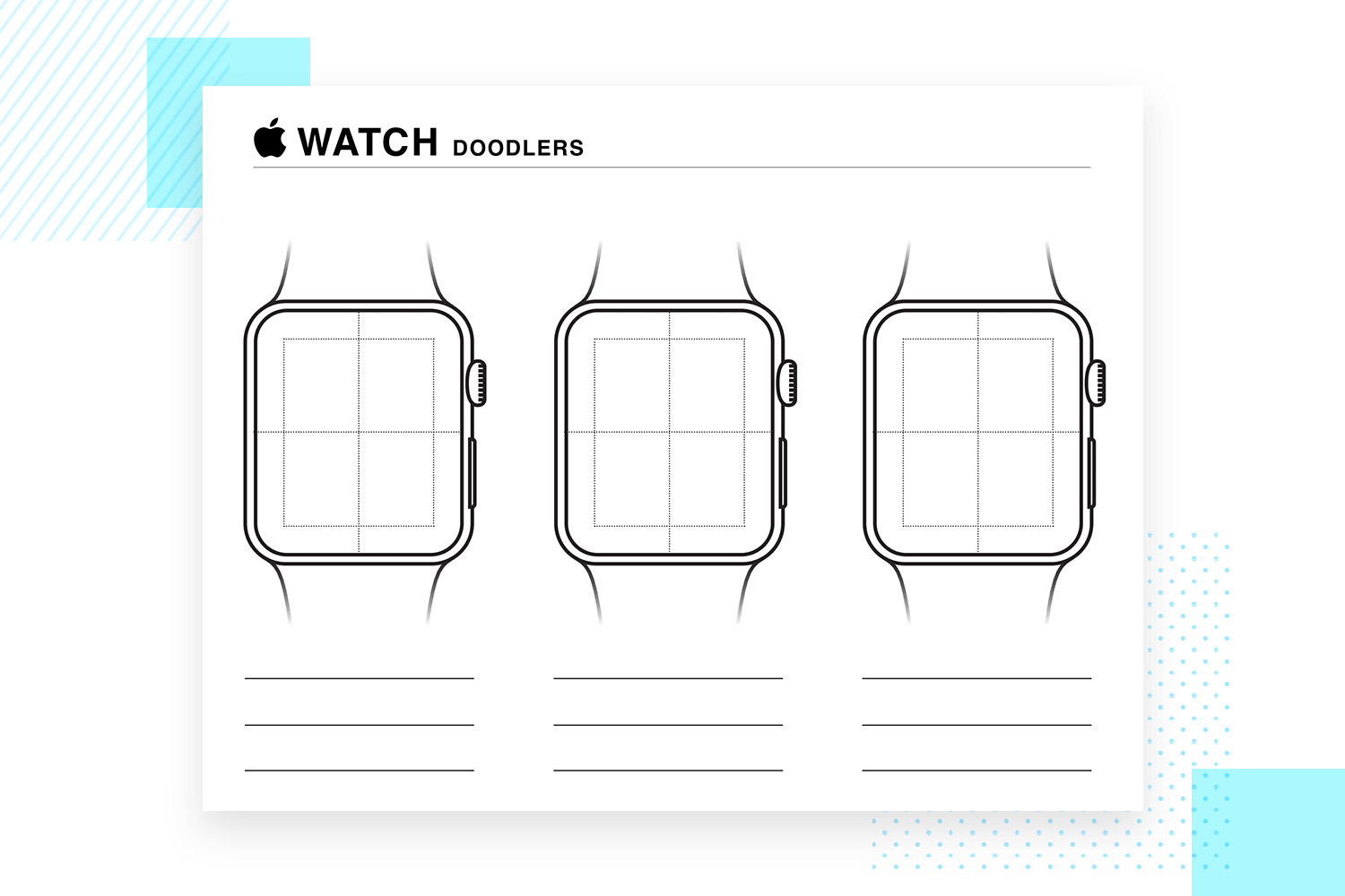 Paper prototyping templates - Apple Watch