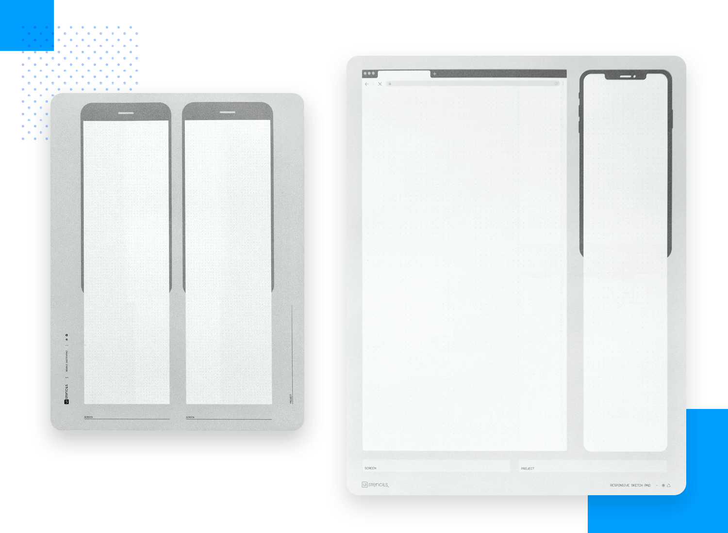 Paper prototyping templates - expandable sketch pads