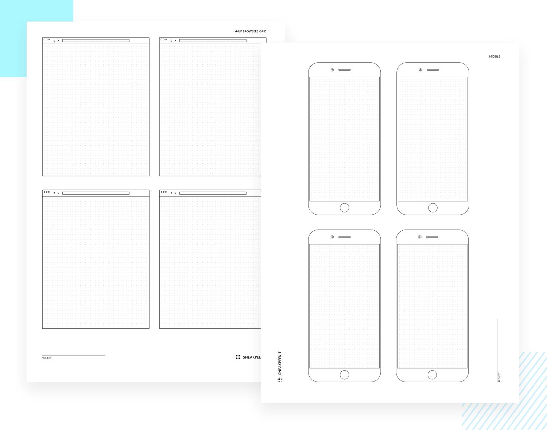 Paper prototyping templates - Sneakpeekit