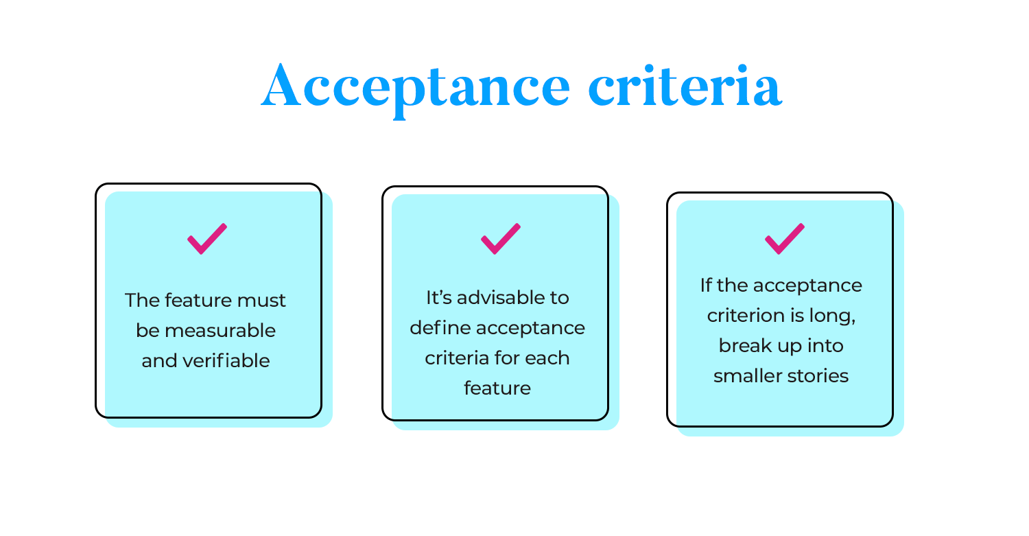 Prototyping - include acceptance criteria with user stories