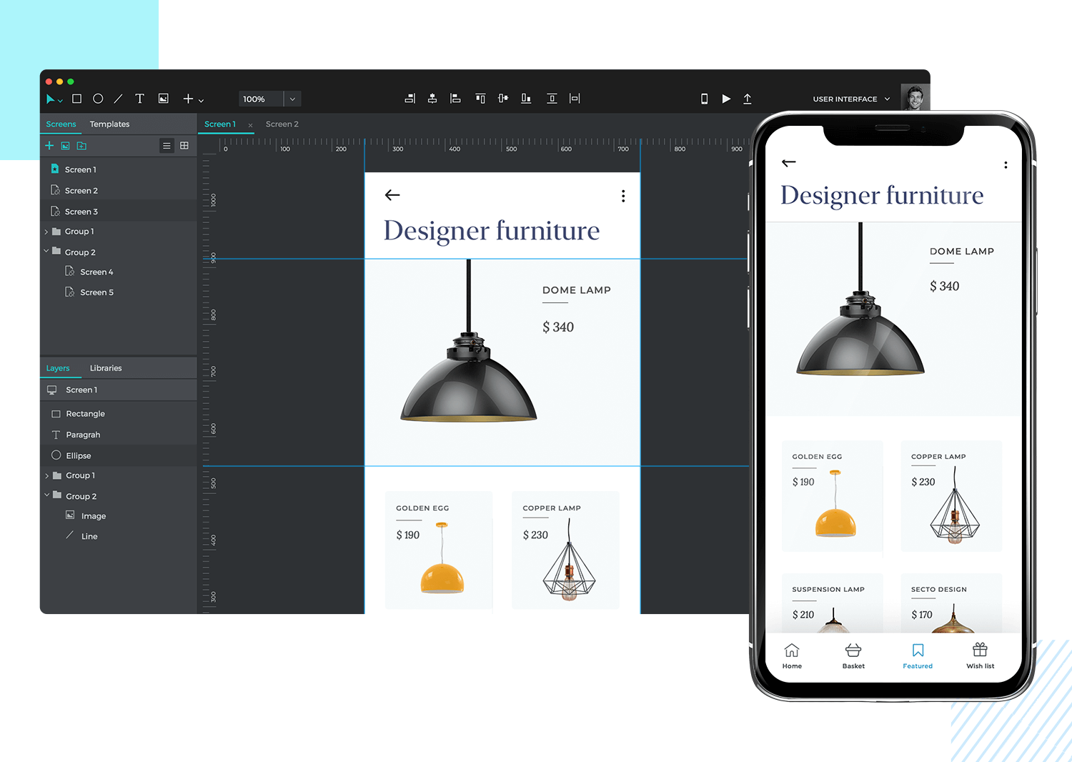 Good prototyping tools let you simulate on real devices