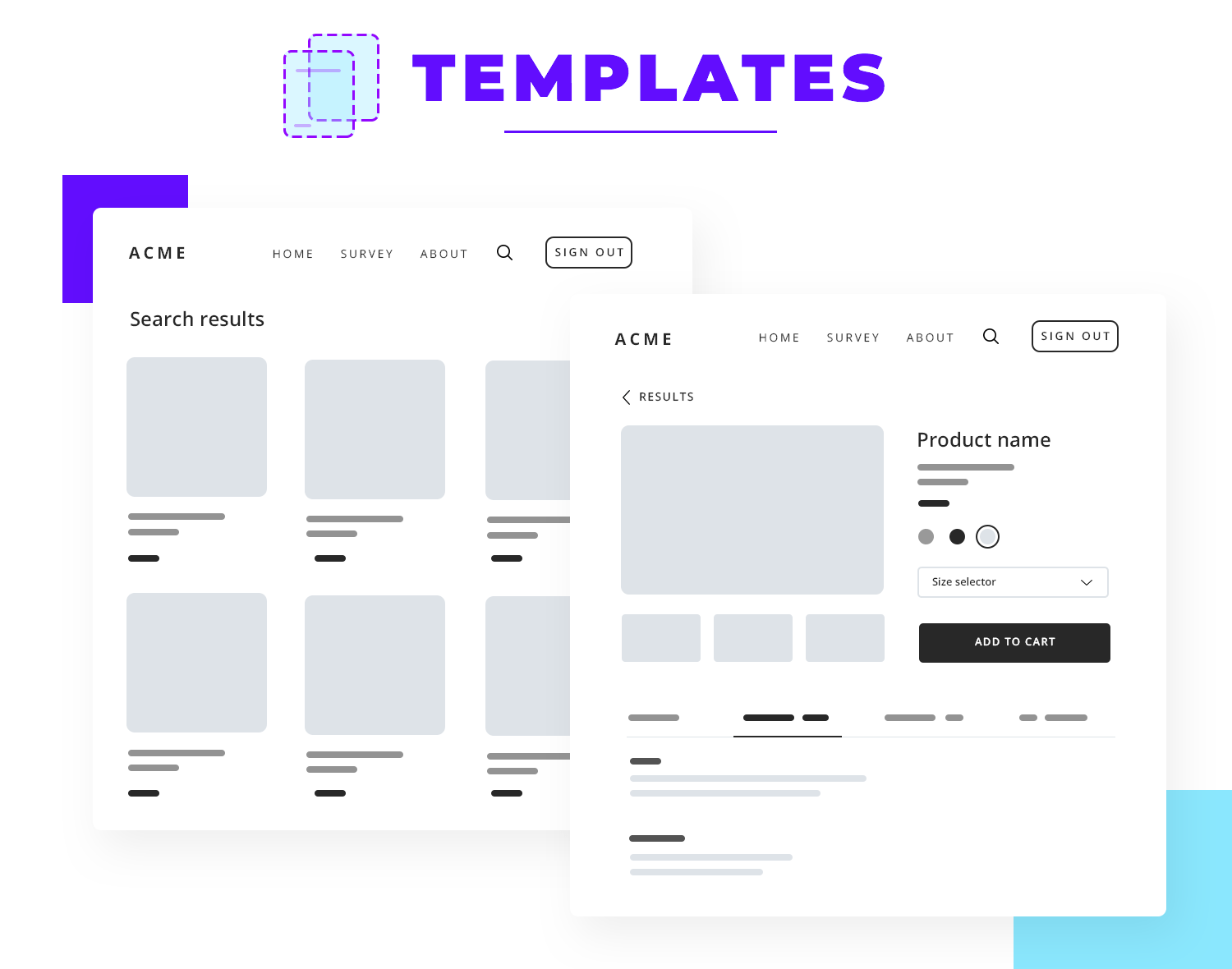 templates in atomic design for ux
