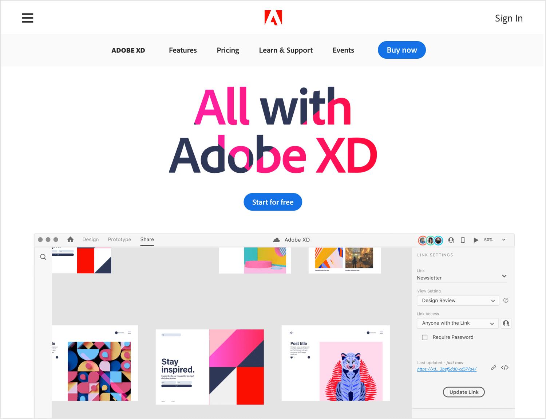 UX design tools - Adobe XD