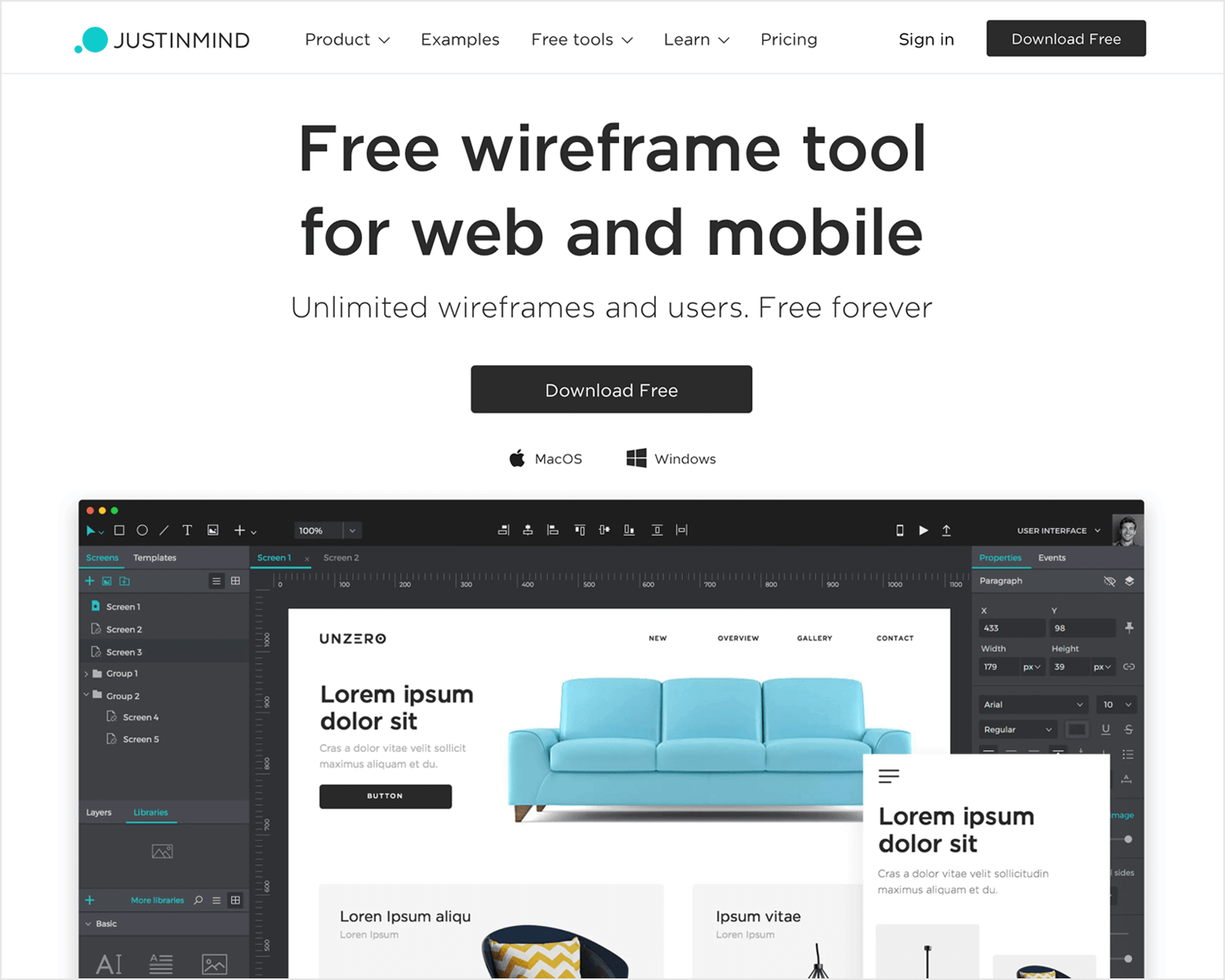 Best wireframe design tools - Justinmind