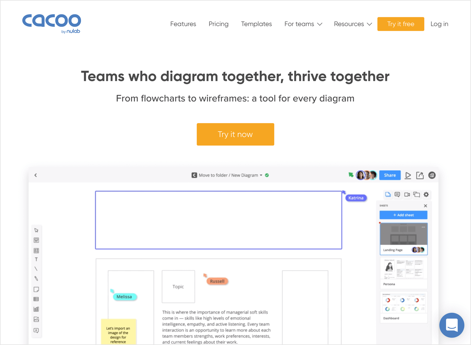 Best wireframe design tools - Cacoo