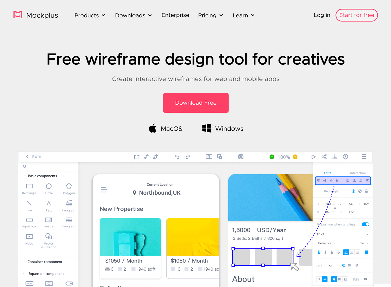 Best wireframe design tools - Mockplus