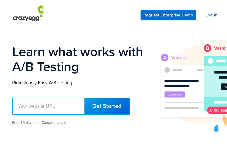 UI testing tools - Crazy Egg