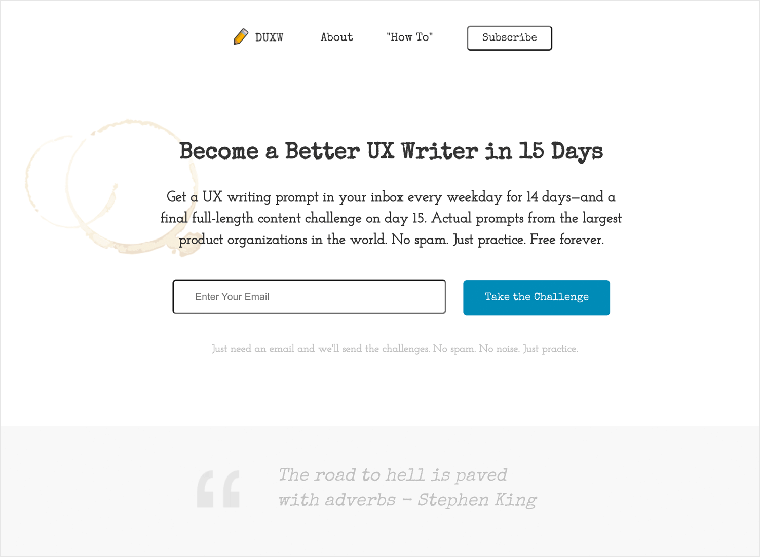 Daily UX Writing course