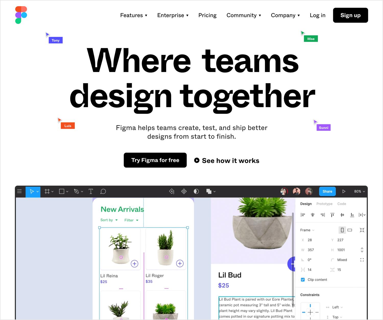 UX design tools - Figma