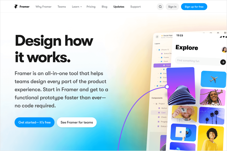 Interaction design tools - Framer