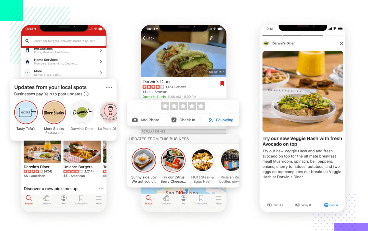 example fro yelp of navigation hub