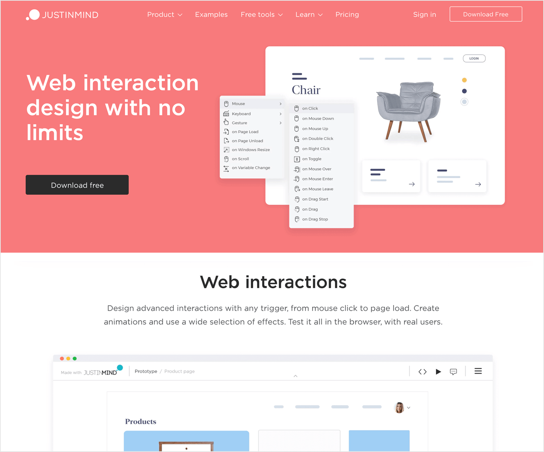 Interaction design tools - Justinmind