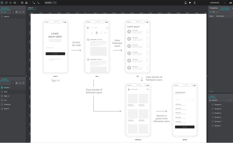 User flow tools - Justinmind