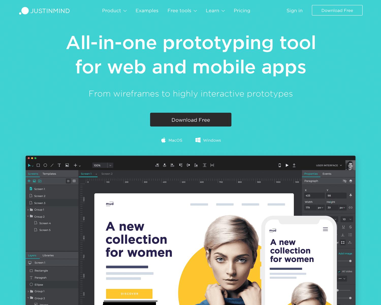 Best UX design tool on the market - Justinmind