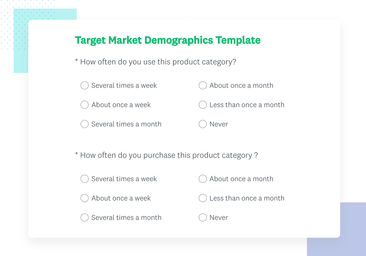 example of market demographics survey template