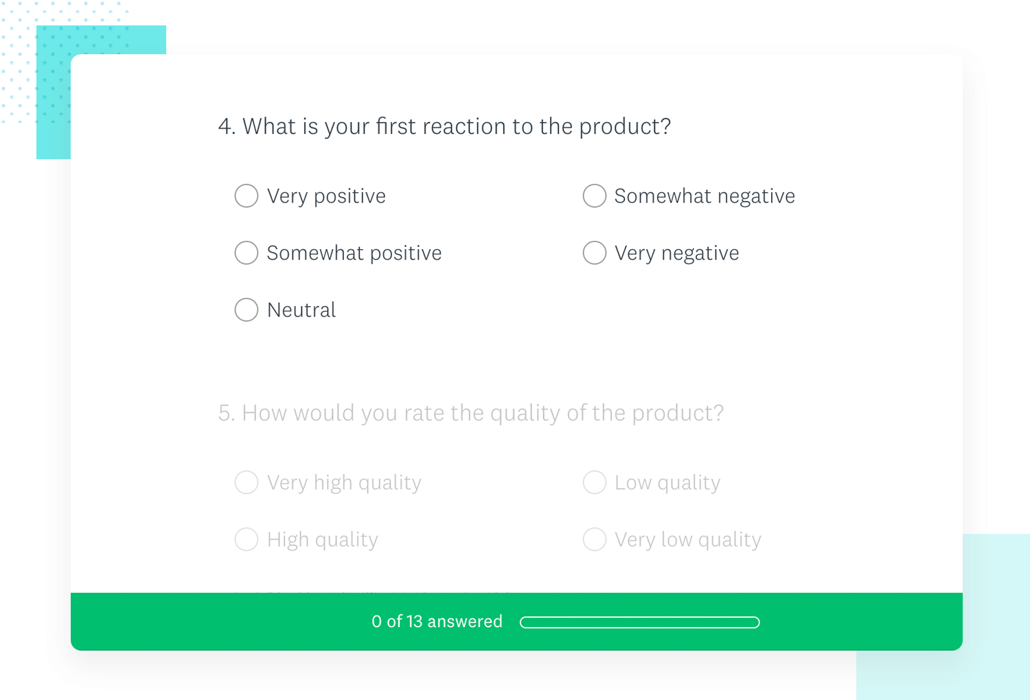example of market research survey template