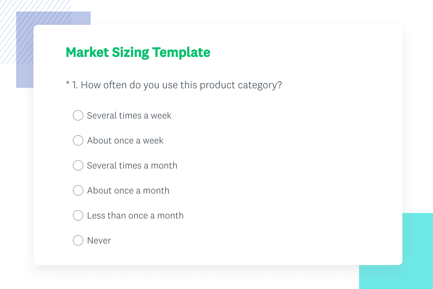 market testing survey template for example