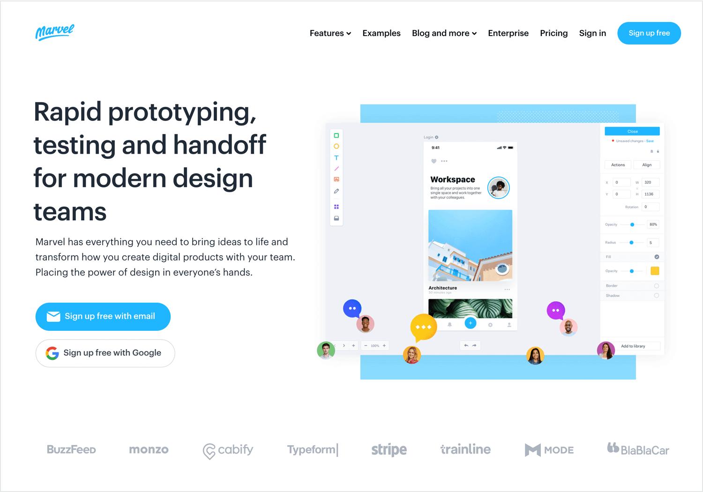 UX design tools - Marvel
