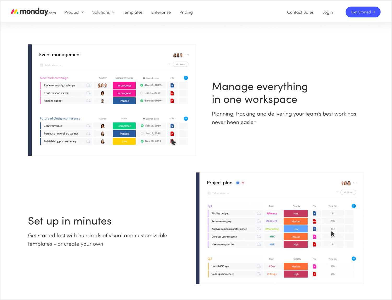 Agile tools for UX - Monday.com