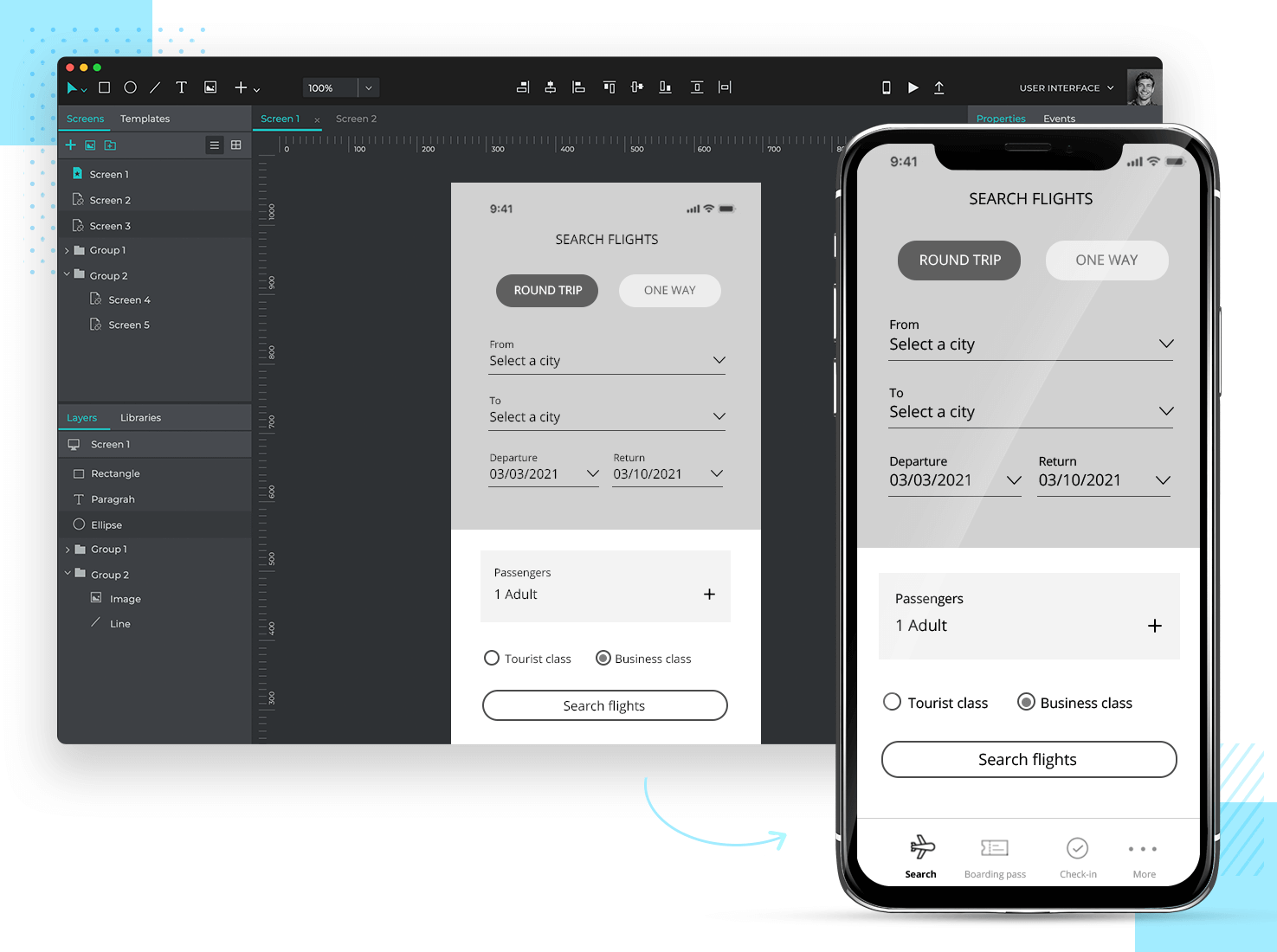 Prototype presentation technique - ensure previewing possible on mobile devices